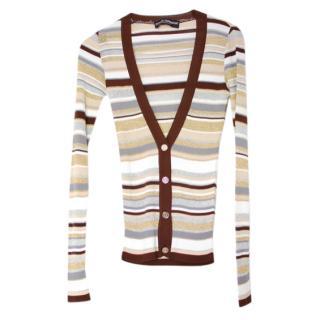 Dolce & Gabbana Striped Lurex Knit Cardigan