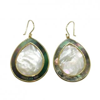 Ippolita 18ct Yellow Gold Mother of Pearl Quartz Drop Earrings