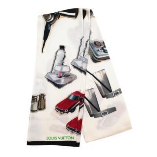 Louis Vuitton Ivory Patches Silk Bandeau