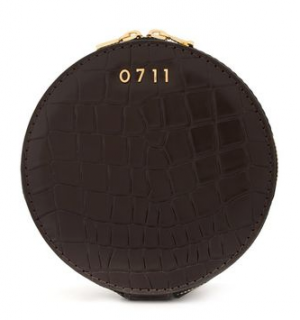 0711 Croc Embossed Evi Cosmetic Bag