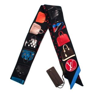 Louis Vuitton Tribute to Alma Printed Silk Bandeau