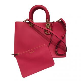 Dior Pink Leather Diorissimo Tote Bag