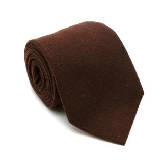 Loro Piana Brown Cashmere Handmade Tie