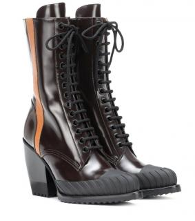 Chloe Bi-Colour Rylee Lace-up Ankle Boots