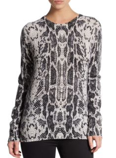 Equipment Sloane Snake-Print Cashmere Sweater
