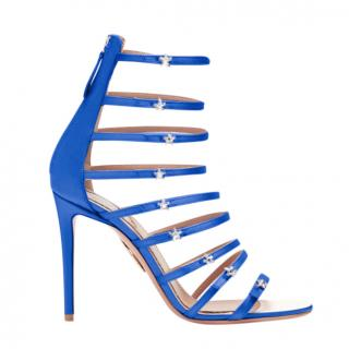 Aquazzura x Claudia Schiffer Satin Crystal Star Sandals
