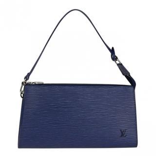 Louis Vuitton Blue Epi Leather Pochette