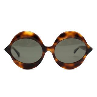 Pierre Cardin 1960's Brown Tortoiseshell 'Kiss' Sunglasses