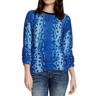 Equiment Sloane Cashmere Cobra-print Sweater