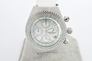 TechnoMarine Wesselton Diamond 38mm Chronograph Ladies Watch