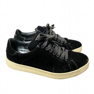 Tom Ford Black Velvet Sneakers