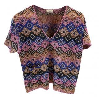 Dries Van Noten lurex knit top