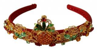 Dolce & Gabbana Silk Crystal Embellished Headband Tiara