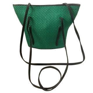 Bottega Veneta Green Woven Vintage Tote Bag