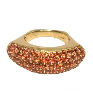 Adler 18ct Yellow Gold Orange Sapphire Julia Ring