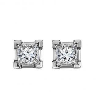 Bespoke Diamond Solitaire 18ct Gold Earrings