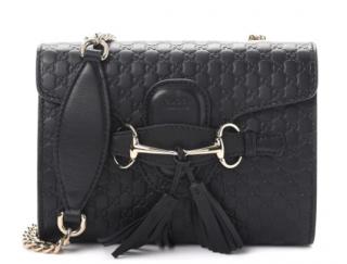 Gucci Black Microguccissima Emily Mini Shoulder Bag