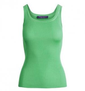 Ralph Lauren Collection Green Silk Vest Top