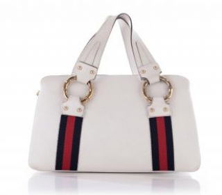 Gucci by Tom Ford Grained Leather Web Stripe Tote Bag
