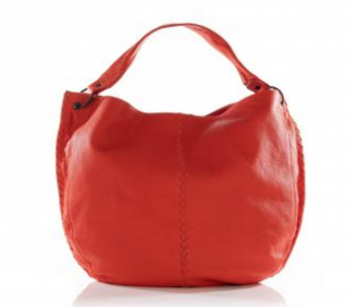 Bottega Veneta Orange Leather Hobo Shoulder Bag