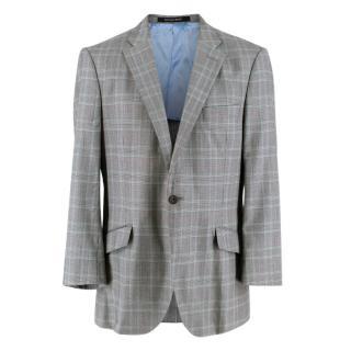Richard James Grey & Green Prince of Wales Check Wool Blazer Jacket
