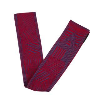 Louis Vuitton Red & Blue LV Zebra Print Silk Bandeau