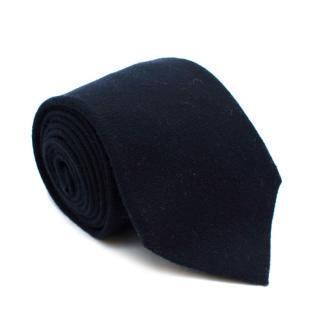 Loro Piana Navy Cashmere Handmade Tie