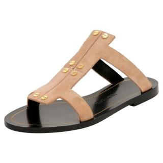 Tom Ford Flat Suede Cage Sandals