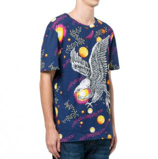 Gucci Space Eagle Blue T-Shirt