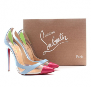 Christian Louboutin Patchwork Nappa Blake is Back Pumps