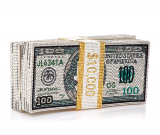 Judith Leiber Couture Stack of Cash Rich Clutch Bag