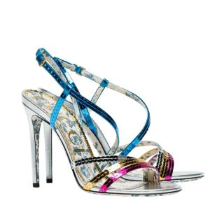 Gucci Multicoloured Sequin Leather Strappy Sandals