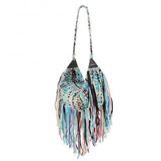 Chanel Multicoloured Tweed Cuba Collection Hobo Bag