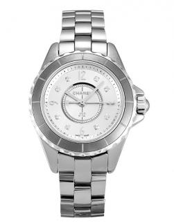 Chanel Titanium Ceramic Diamond Dial Quartz 29mm J12 Watch