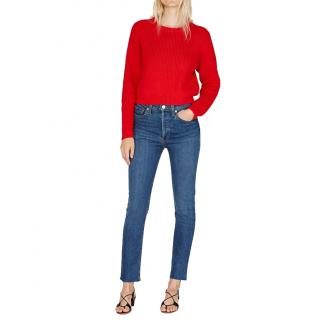 Re/Done Forever Rinse Ankle Crop Jeans