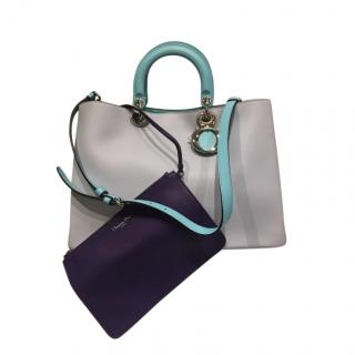 Dior Tri-Colour Leather Diorissimo Tote Bag