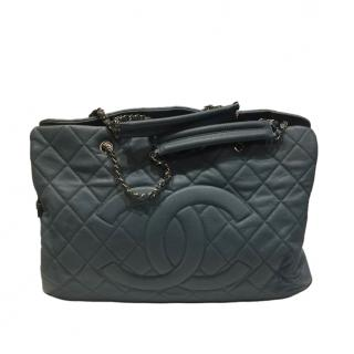 Chanel Blue Quilted Leather Shopper
