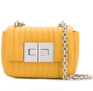 Tom Ford Yellow Matelasse Leather Natalia Mini Shoulder Bag