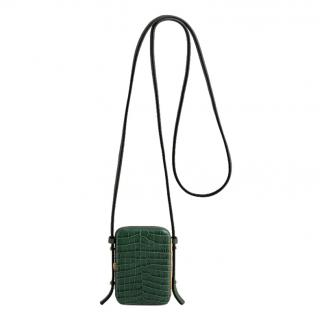 Lutz Morris Norman Jade Croco Crossbody Bag