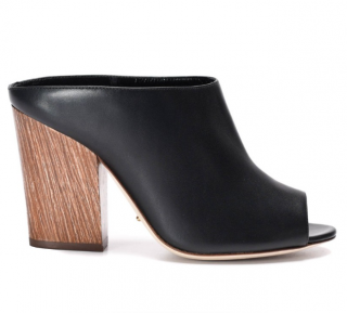 Sergio Rossi Black Open Toe Mules