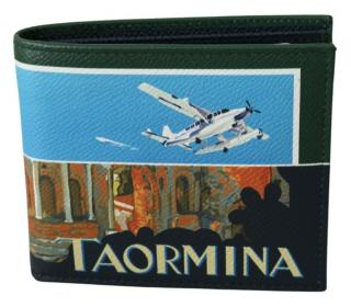 Dolce & Gabbana Grained Leather Taormina Print Wallet