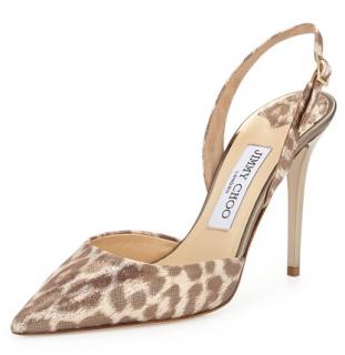 Jimmy Choo Tarida Leopard-Print Slingback Sandals