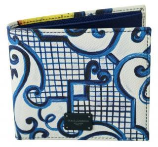 Dolce & Gabbana Majolica Print Bi-Fold Wallet