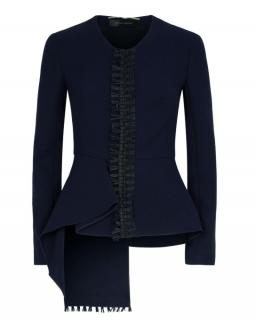 Roland Mouret Blue Greenwood Peplum Jacket