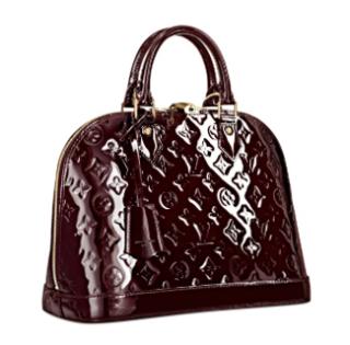 Louis Vuitton Amarante Mongram Vernis Leather Alma PM Bag