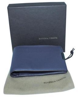 Bottega Veneta Blue Grained Leather Wallet