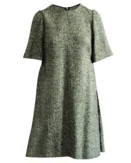 Dolce & Gabbana Chevron Knit Wool Shift Dress
