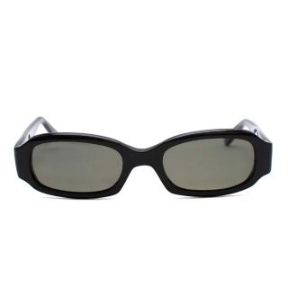 E.B. Meyrowitz Black Handmade Sunglasses