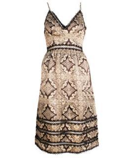 Zimmermann Lace Cut Printed Silk Dress