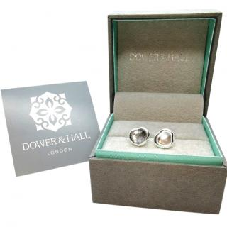 Dower & Hall Silver Pebble Earrings